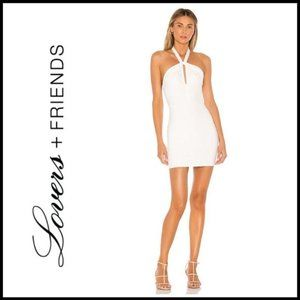 NWT LOVERS + FRIENDS Mahira White Mini Dress, S